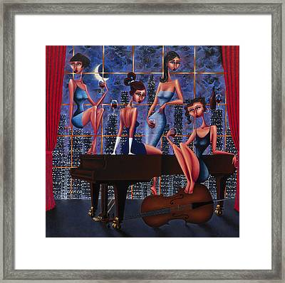 Set Break Framed Print by Ned Shuchter