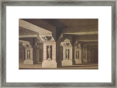 Set Design For Act II Scene Xx Of The Magic Flute By Wolfgang Amadeus Mozart 1756-91  Framed Print by Karl Friedrich Schinkel