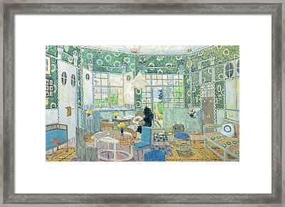 Set Design For Ibsens Stage Play Little Eyolf, 1907 Wc On Cardboard Framed Print by Aleksandr Jakovlevic Golovin