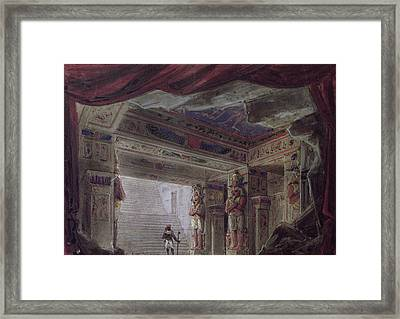 Set Design For The Magic Flute By Wolfgang Amadeus Mozart  Framed Print by French School