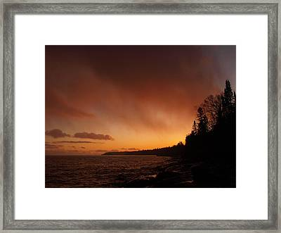 Set Fire To The Rain Framed Print by James Peterson