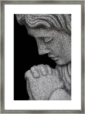 Set In Stone Framed Print by Mary Burr