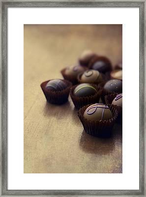 Set Of Chocolate Pralines Framed Print by Jaroslaw Blaminsky