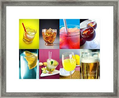 Set Of Drinks Framed Print by Carlos Caetano