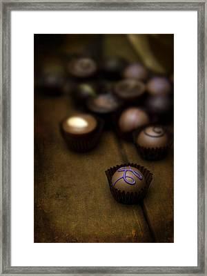 Set Of Round Chocolate Pralines Framed Print by Jaroslaw Blaminsky
