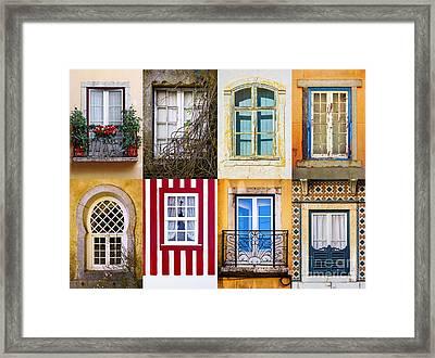 Set Of Windows Framed Print by Carlos Caetano