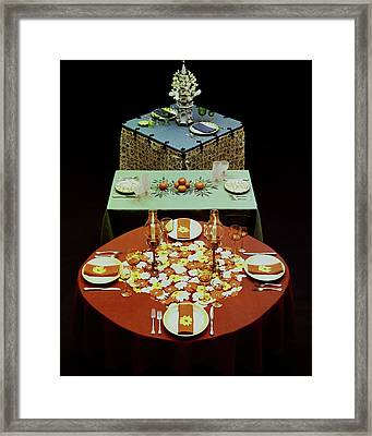 Set Tables Framed Print by Fotiades