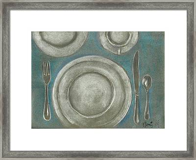 Set The Table Framed Print by P J Lewis
