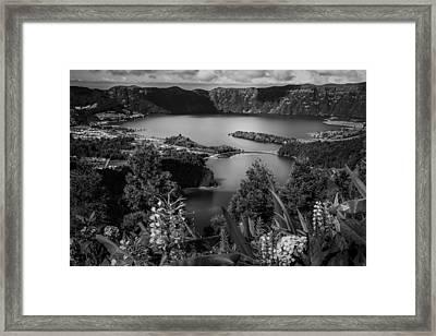 Sete Cidades Lake Framed Print