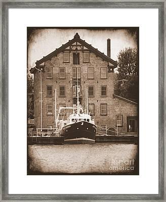 Seth Green Research Boat  Framed Print