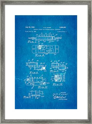 Seth Lover Gibson Humbucker Pickup 2 Patent Art 1959 Blueprint Framed Print