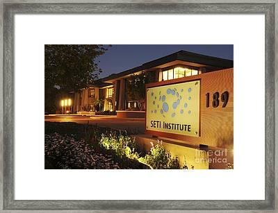 Seti Institute Entrance Framed Print by Dr Seth Shostak
