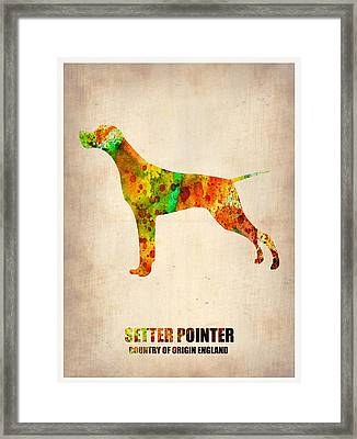 Setter Pointer Poster Framed Print by Naxart Studio