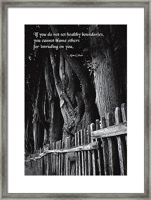 Setting Boundaries Framed Print by Mike Flynn