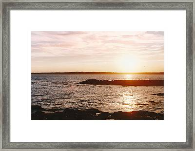 Setting  Framed Print by Brian Nogueira