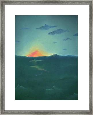 Setting Forever Framed Print by Corina Bishop