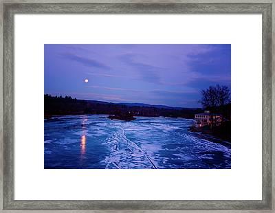 Setting Moon Brattleboro Framed Print by Tom Singleton