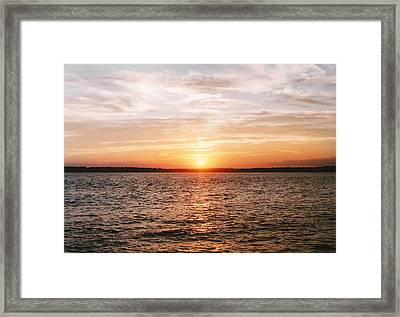 Setting On Arrival  Framed Print by Brian Nogueira
