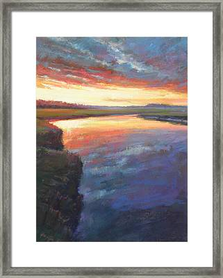 Setting On Scorton Framed Print by Ed Chesnovitch