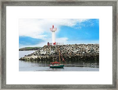 Setting Out Howth Ireland Framed Print by Jo Collins