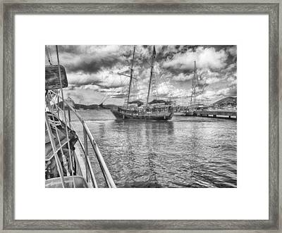 Framed Print featuring the photograph Setting Sail by Howard Salmon