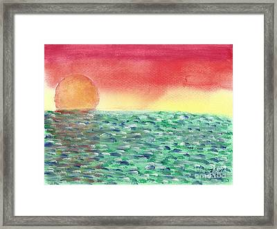 Setting Sea Framed Print