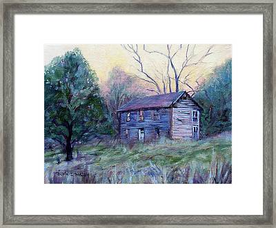 Setting Sun Framed Print by Bonnie Mason