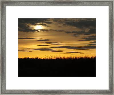 Framed Print featuring the photograph Setting Sun by Gene Cyr