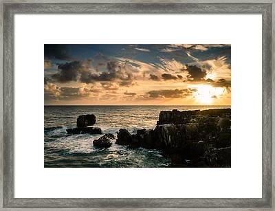 Setting Sun I Framed Print