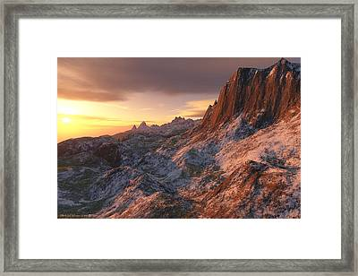 Setting Sun In The High Country Framed Print by Michael Wimer