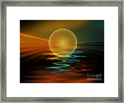 Setting Sun Framed Print by Klara Acel