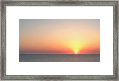 Setting Sun  Framed Print by Phil Gorham