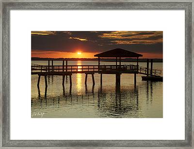 Setting Sun Framed Print by Phill Doherty