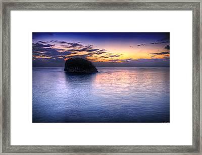 Setting Sun Framed Print by Ryan Wyckoff