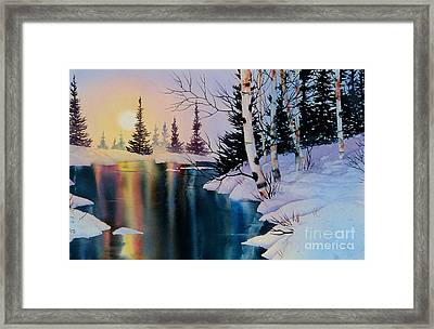 Setting Sun Framed Print by Teresa Ascone