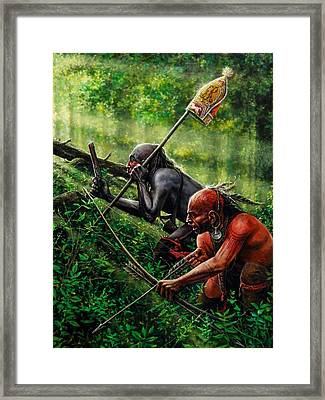 Setting The Trap Framed Print