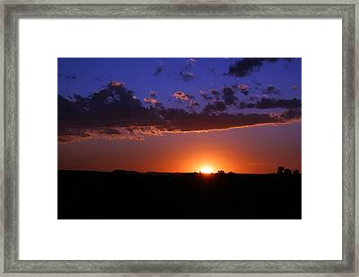 Setting The Western Sky Framed Print