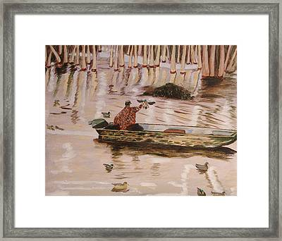 Setting Up In A Tupelo Swamp Framed Print by Kevin Callahan