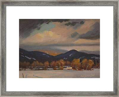 Framed Print featuring the painting Settled In The Hoosac Valley by Len Stomski
