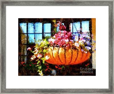 Settlers Inn Welcome Basket Framed Print