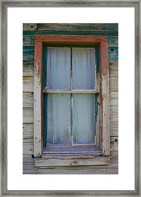 Settler's Window Framed Print