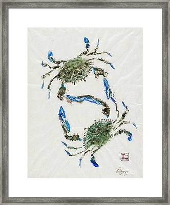 Settling Differences Framed Print by Odessa Kelley
