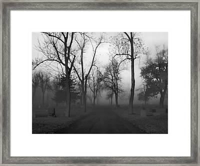 Settling Fog Framed Print