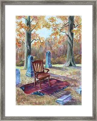 Settling Place Framed Print