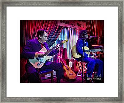 Seu Jorge At The Blue Note Nyc Framed Print by Lee Dos Santos