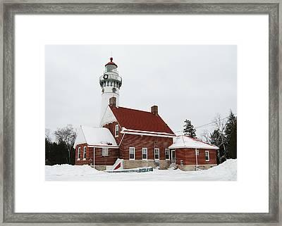 Seul Choix Point Lighthouse Framed Print