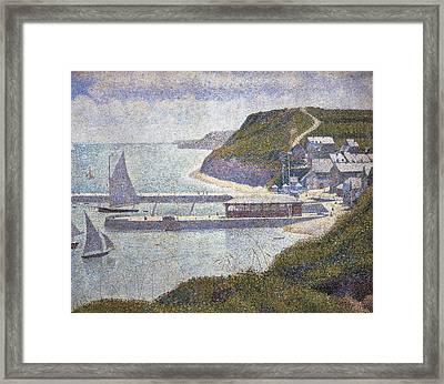 Seurat, Georges 1859-1891. Harbour Framed Print by Everett