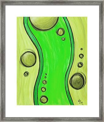 Seuss Green Framed Print by Melissa Smith