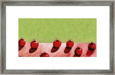 Seven Apples Framed Print by Michelle Calkins