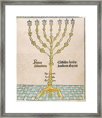 Seven-branched Candelabrum Or Menorah Framed Print